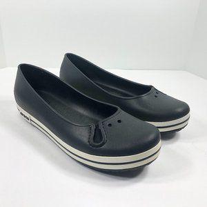 Crocs Black Loafers Slip On Shoes Flats Women's 11